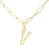 Bamboo Initial Necklace - V