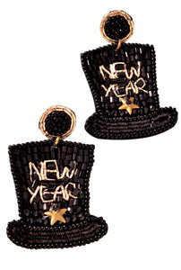 New Year Eve's Hat Earrings