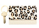 Leopard Card and Key Fob - Cream