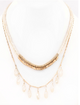 Crystal Layered Drop Necklace - White
