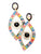 Rainbow Rhinestone Evil Eye Earrings