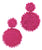 Seed Bead Circle Earrings - Pink