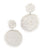 Seed Bead Circle Earrings - White