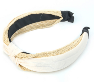 Braided Twist Headband - White