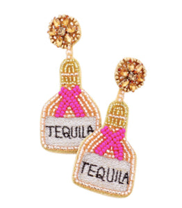 Tequila Earrings - Pink
