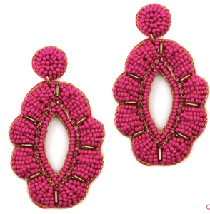Olivia Earrings - Pink
