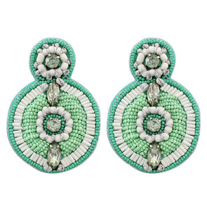 Toya Earrings - Blue