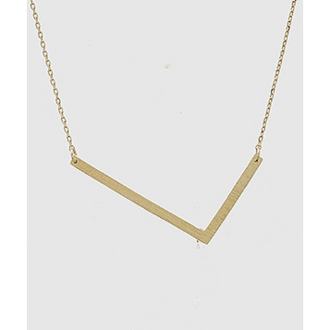 Initial Necklace - L - Shop Golden Lily
