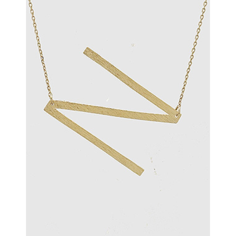 Initial Necklace - N - Shop Golden Lily