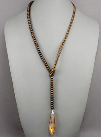 Karen Necklace - Brown - Shop Golden Lily
