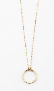 Gold Circle Necklace - Shop Golden Lily