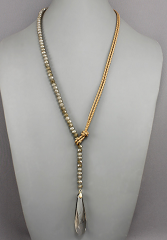 Karen Necklace - Light Brown - Shop Golden Lily