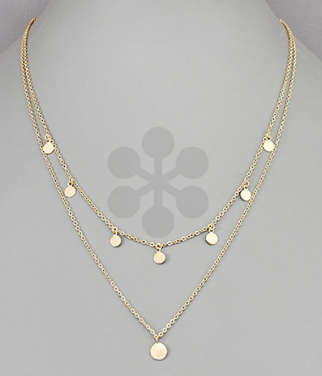 Layered Disc Necklace - Shop Golden Lily