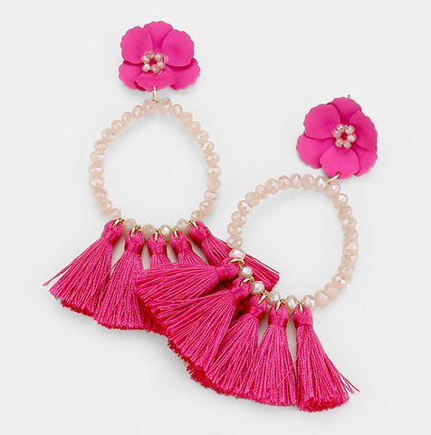 Leigh Earrings - Pink