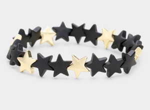 Star Bracelet - Black and Gold