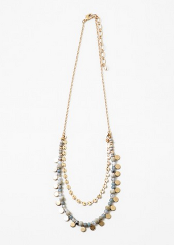 Jackie Necklace - Grey
