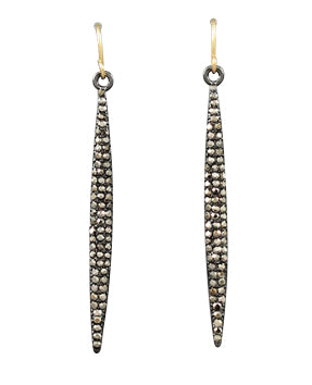 Pave Stick Earrings