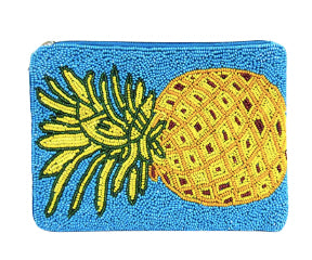 Pineapple Seed Bead Handbag - Blue