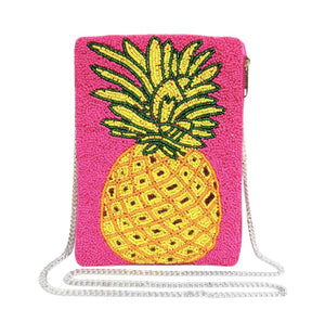 Pineapple Seed Bead Handbag - Pink