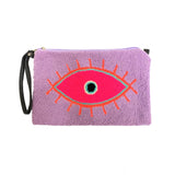 Large Eye Lilac Clutch