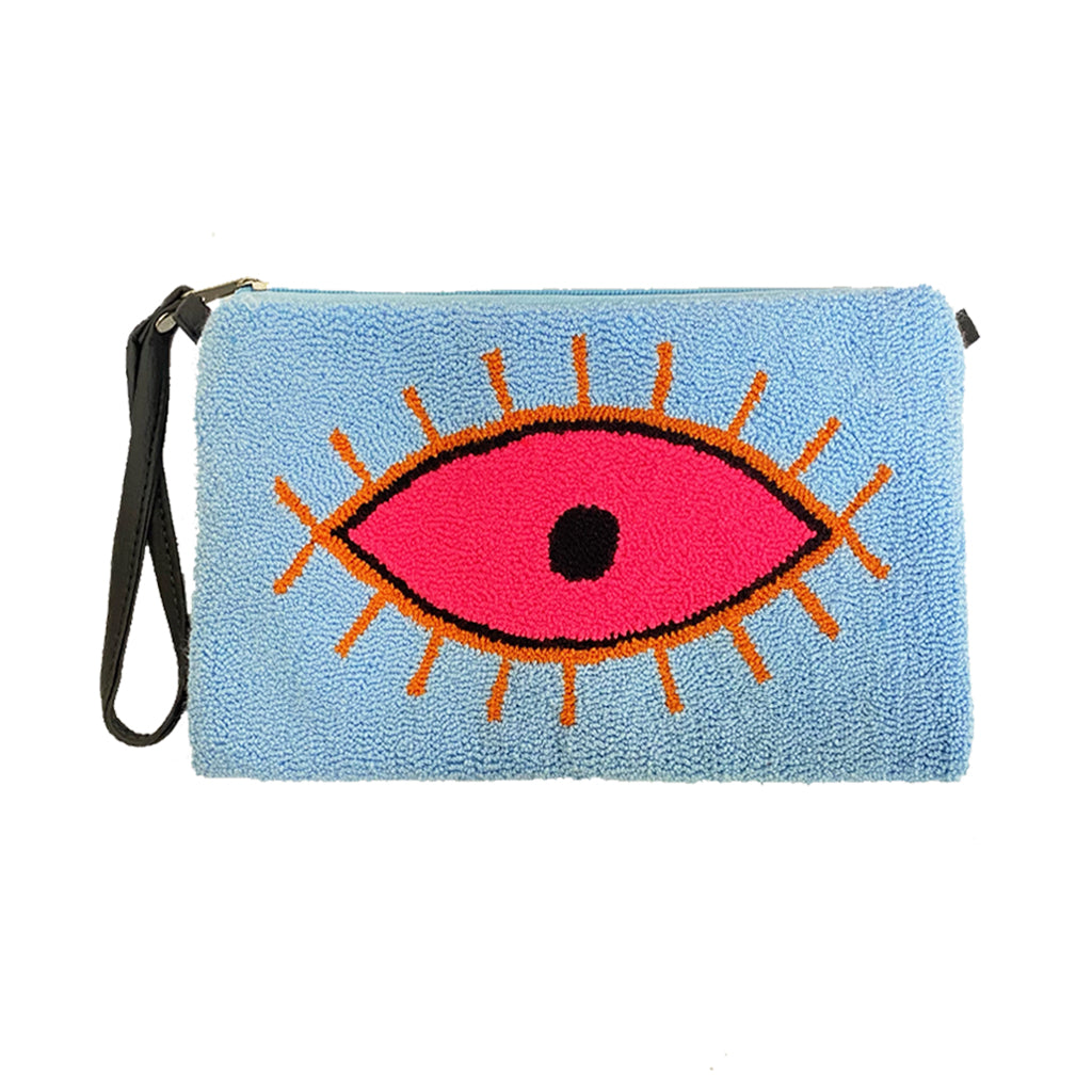 Large Eye Baby Blue Clutch