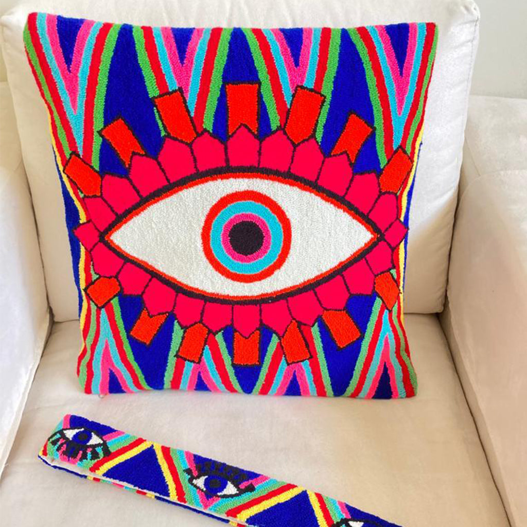Blue & Pink Cushion Cover