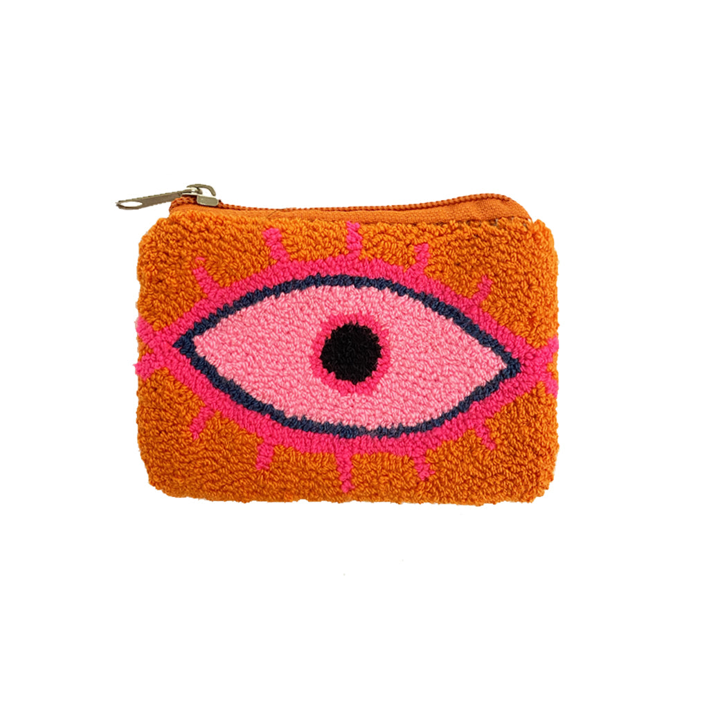 Orange & Pink coin purse