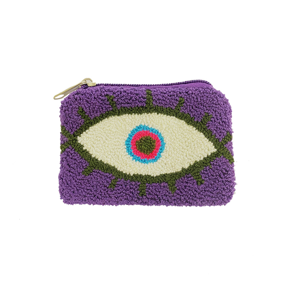 Purple & Dark Green coin purse