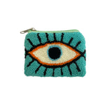 Blue Green & White coin purse