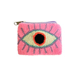 Neon Pink & White  coin purse