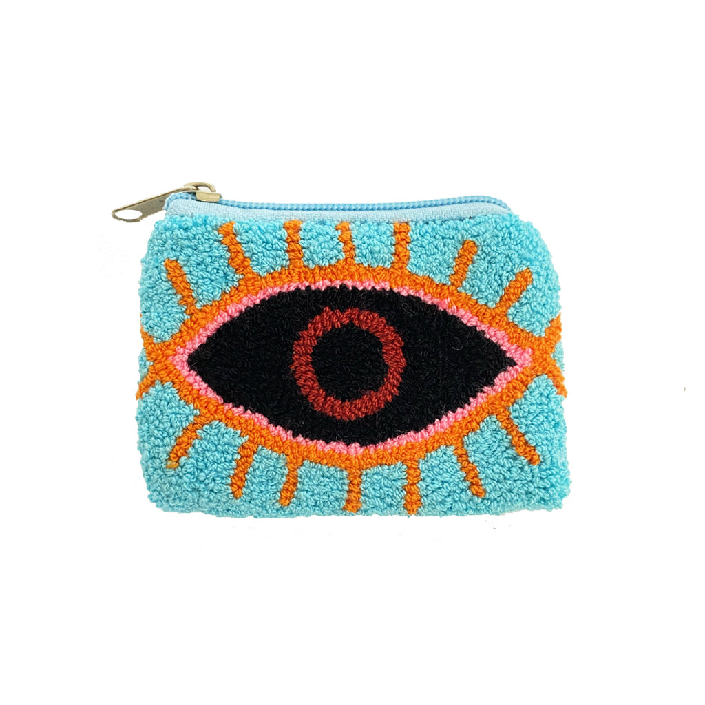 Aqua & Black coin purse