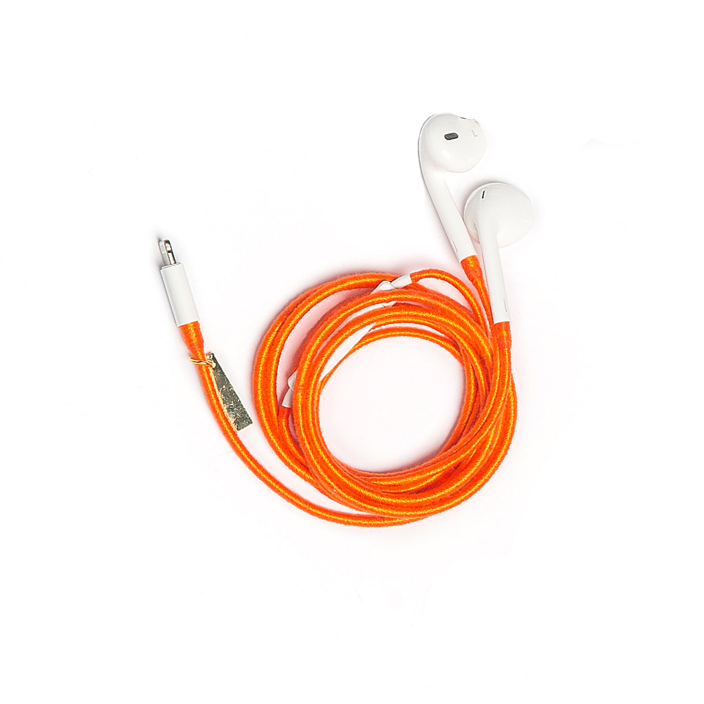 Orange Earphones