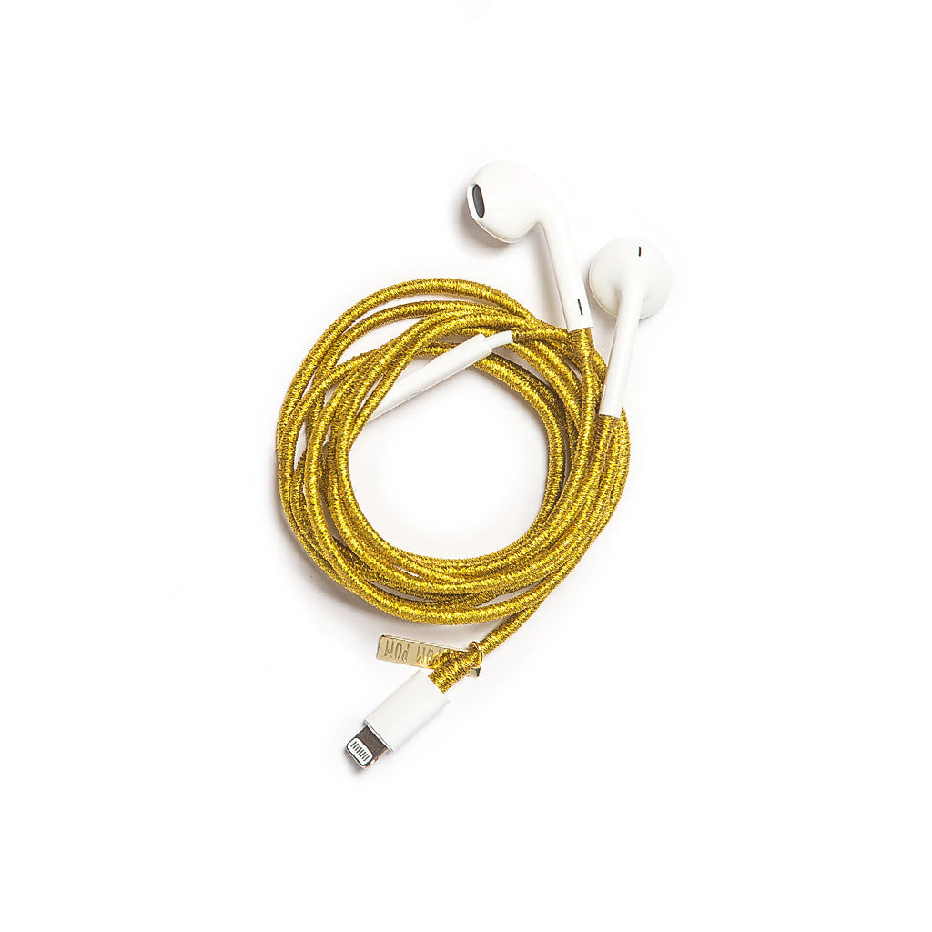Metallic Gold Earphones