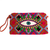 Red & Blue Evil Eye Clutch