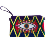 Purple Evil Eye Clutch