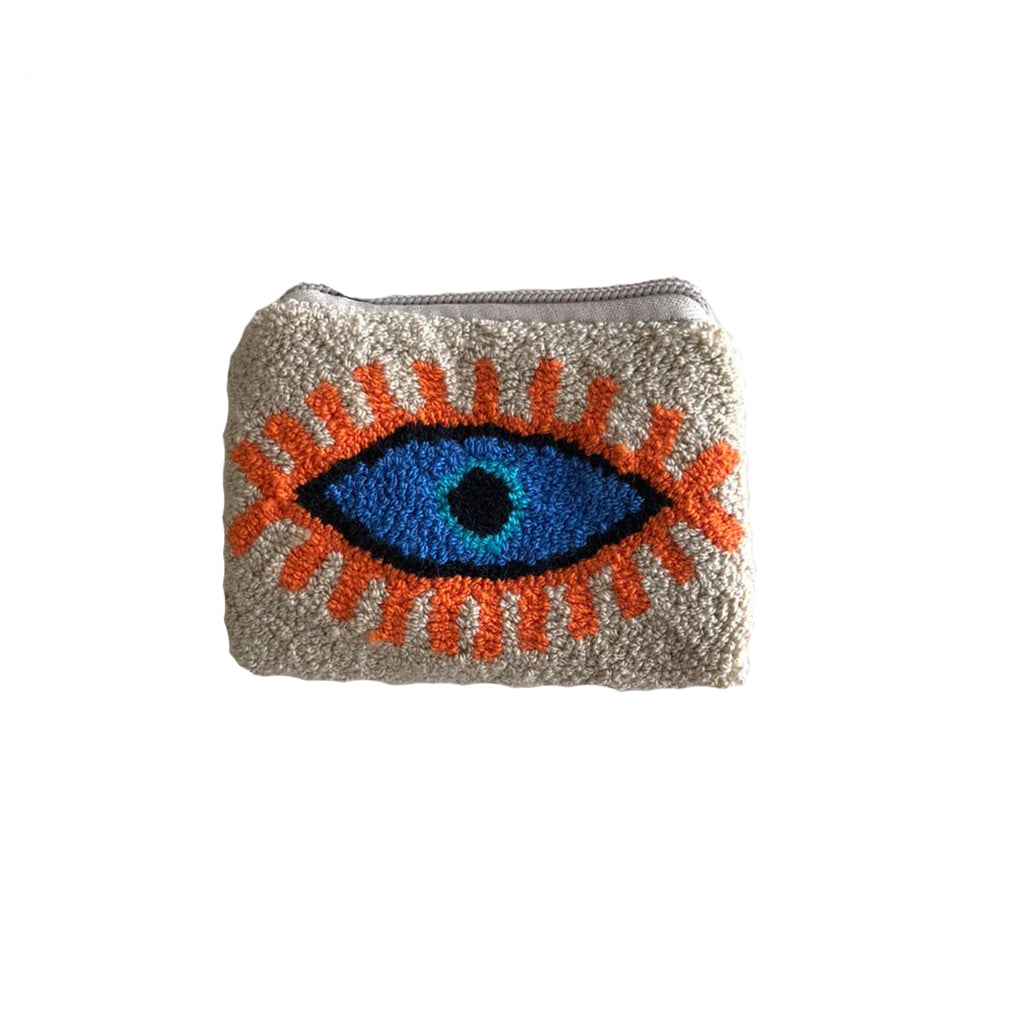 White & Orange coin purse