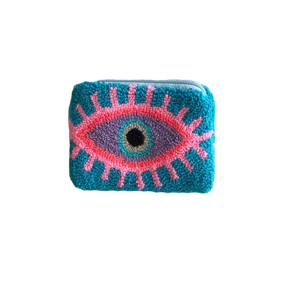 Baby blue & Pink coin purse