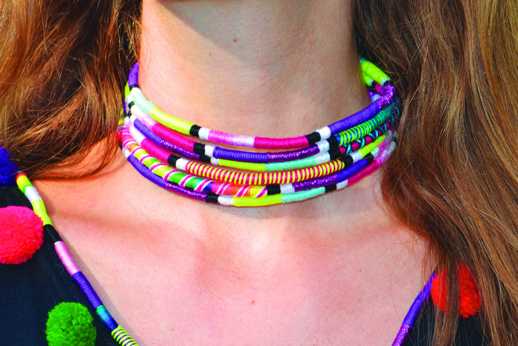 Rainbow Large Choker