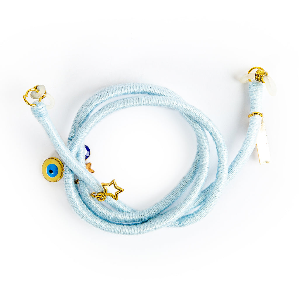 Baby Blue Lanyard & Glasses Strap
