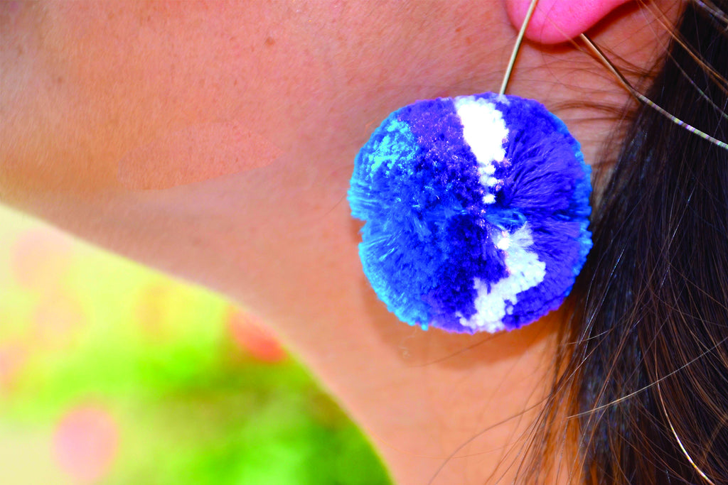 Audrey Pom Pom Earrings