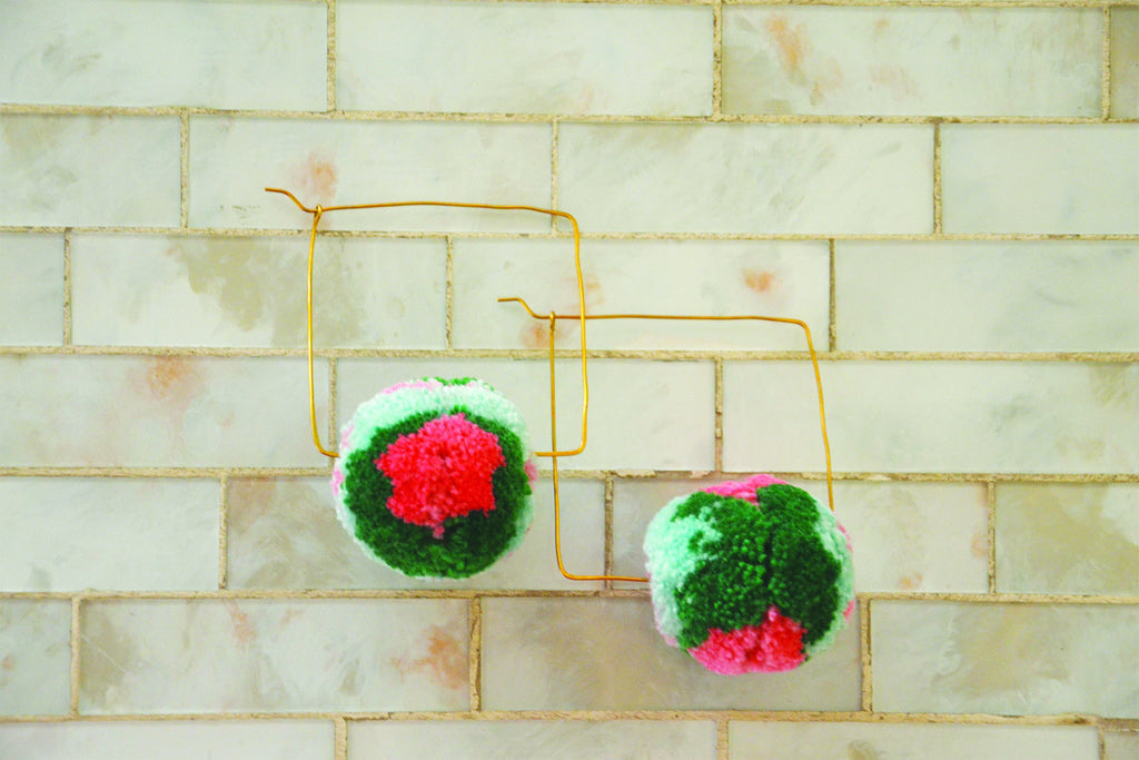 Violetta Pom Pom Earrings