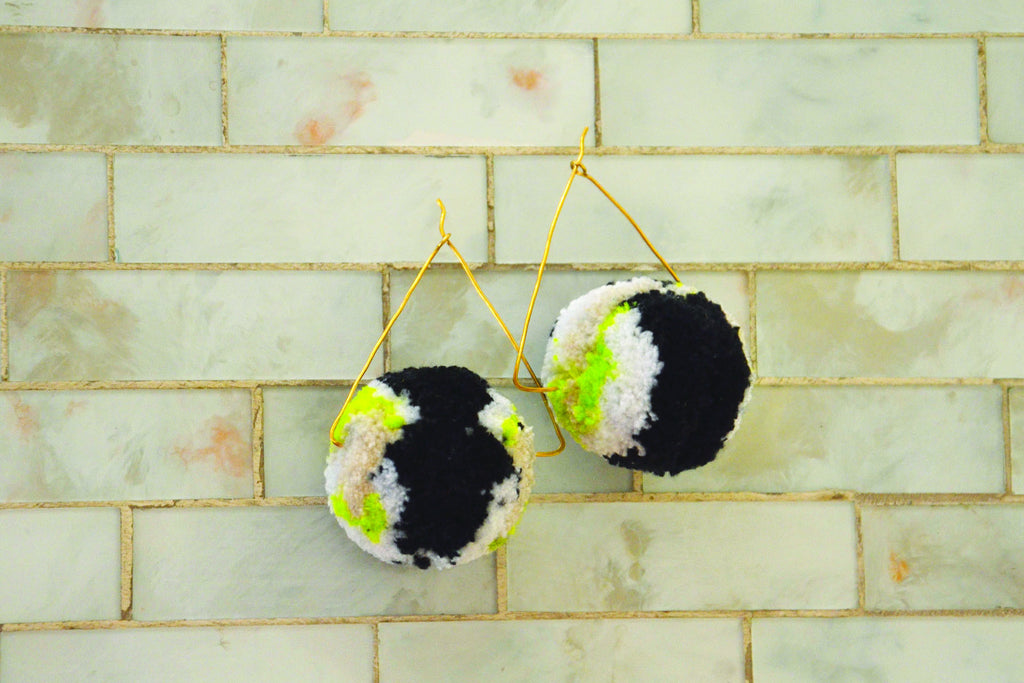 Viv Pom Pom Earrings
