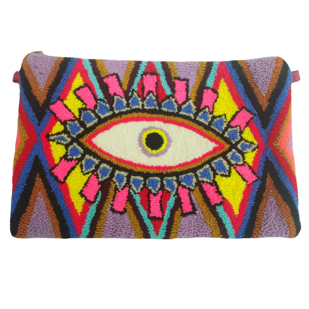 Purple & Pink Evil Eye Clutch