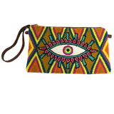 Brown & Purple Evil Eye Clutch