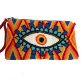 Orange & Yellow Evil Eye Clutch