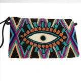 Black & Purple Evil Eye Clutch