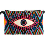 Red & Purple Evil Eye Clutch