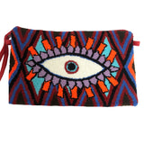 Orange & Purple Evil Eye Clutch