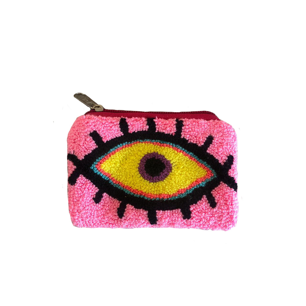 Baby Pink & Yellow coin purse