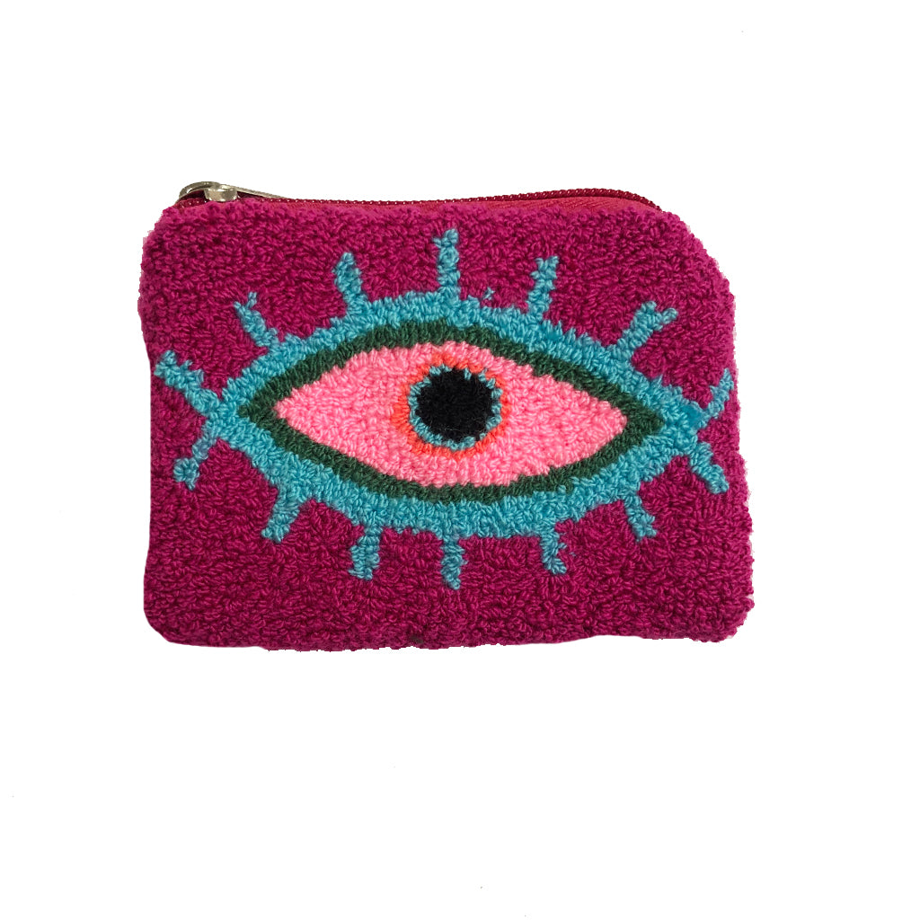 Purple & Baby Pink coin purse